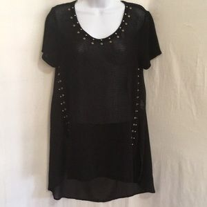 Vocal Tops - Size M Vocal Mesh Top With Copper Colored Accents